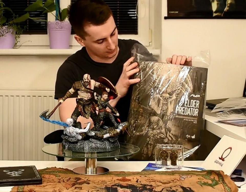 God of war unboxing kolektorskej edície  - 4everLoserGamers sk
