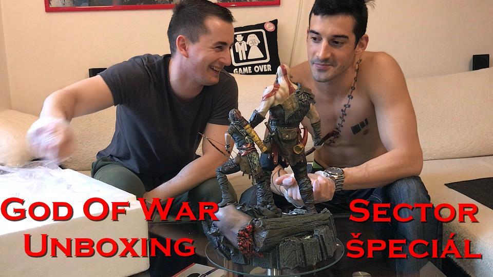 4ELG God of War soška - unboxing - Sector špeciál