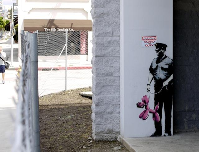 banksy was here the invisible man of Three days after banksy's the girl with the balloon appeared to partially self-destruct after it had been sold at auction, the art world is none the wiser.