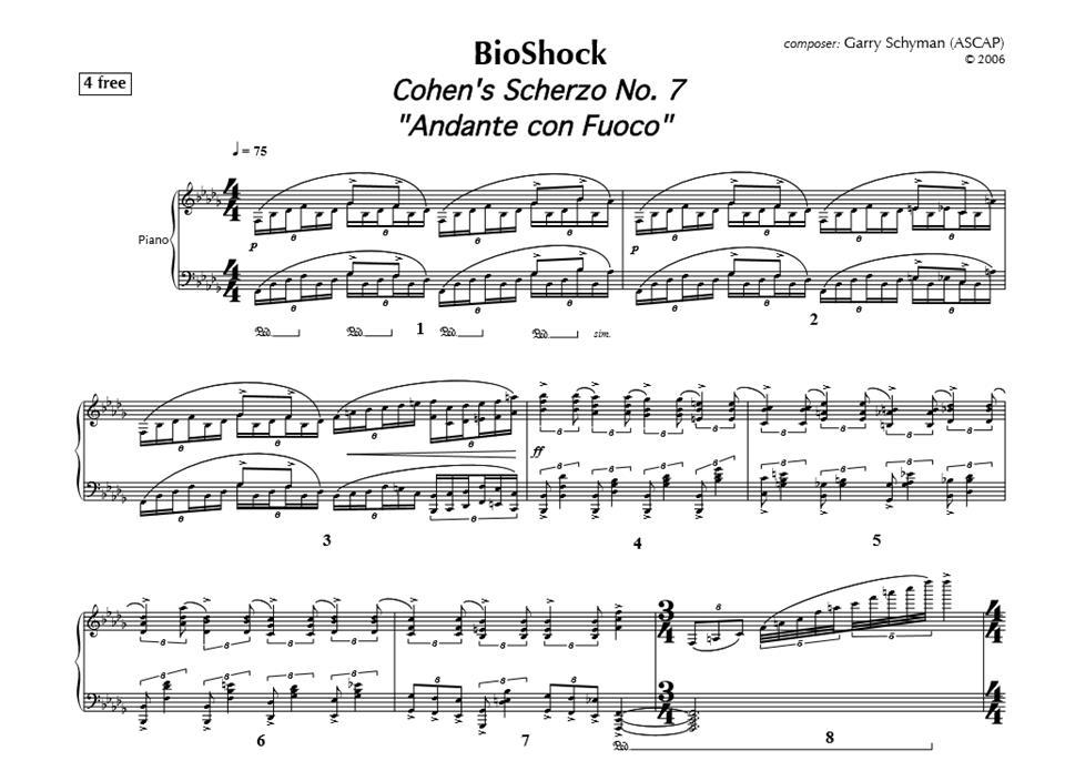 Klavírne okienko 4 - BioShock OST - Cohen's Scherzo No.7