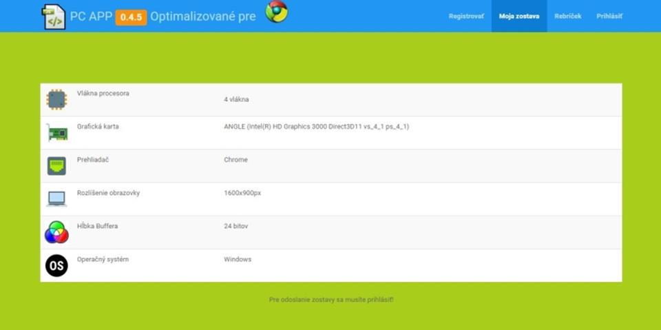 Webaplikácia na používateľský hardvér