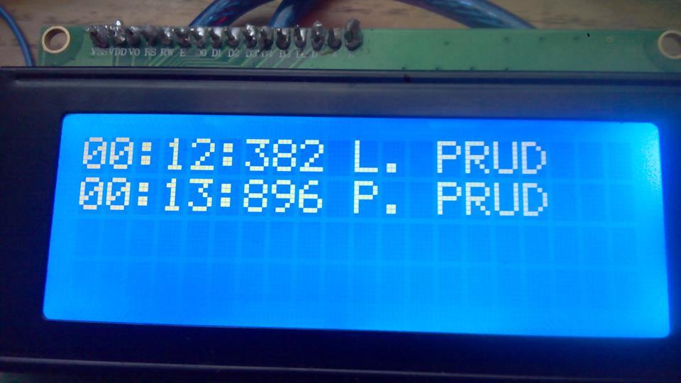 Hasičská časomiera útoku cez Arduino + LCD displej
