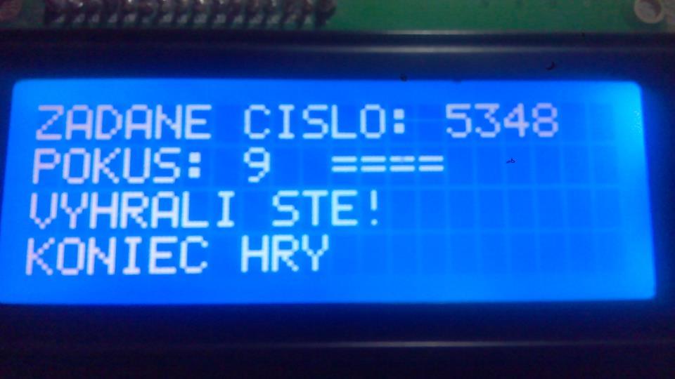 Mastermind - Logik - cez Arduino a LCD
