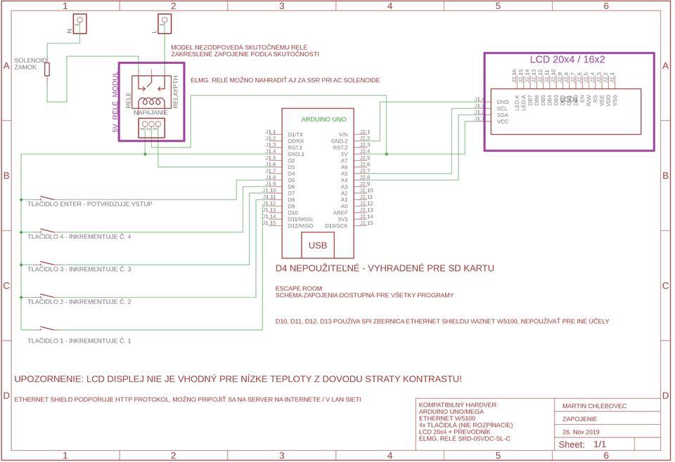 Escape Room - Webclient - Arduino + Ethernet