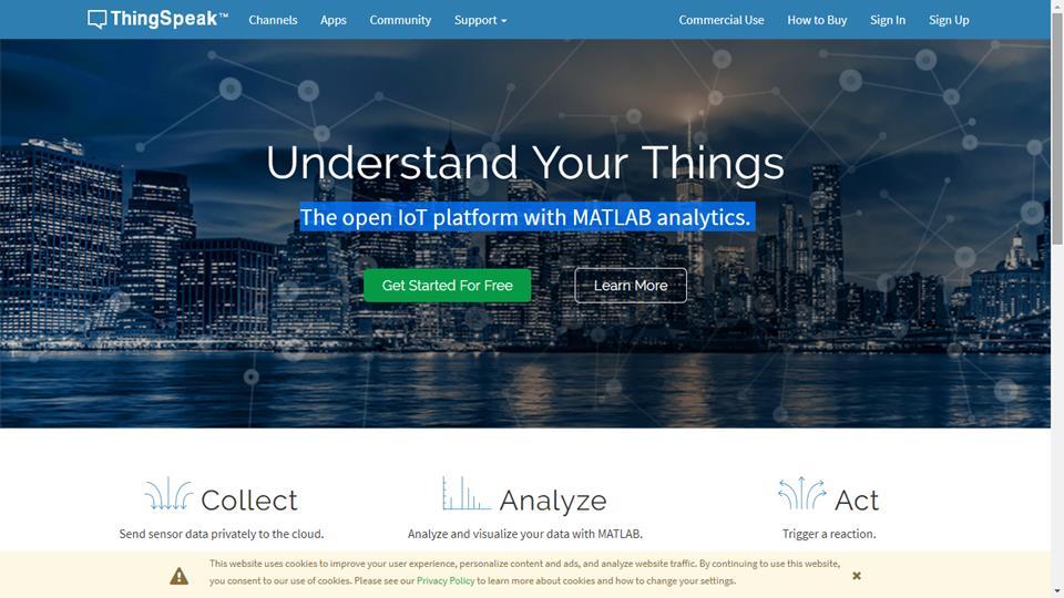 ThingSpeak - IoT platforma pre Arduino / ESP8266 / ESP32