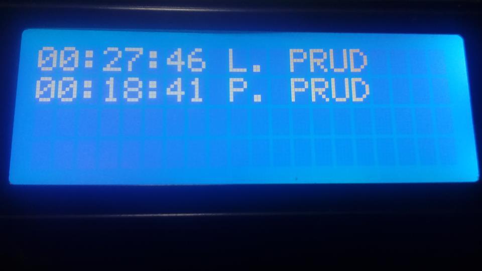 Hasičské stopky - časomiera - Arduino + LCD