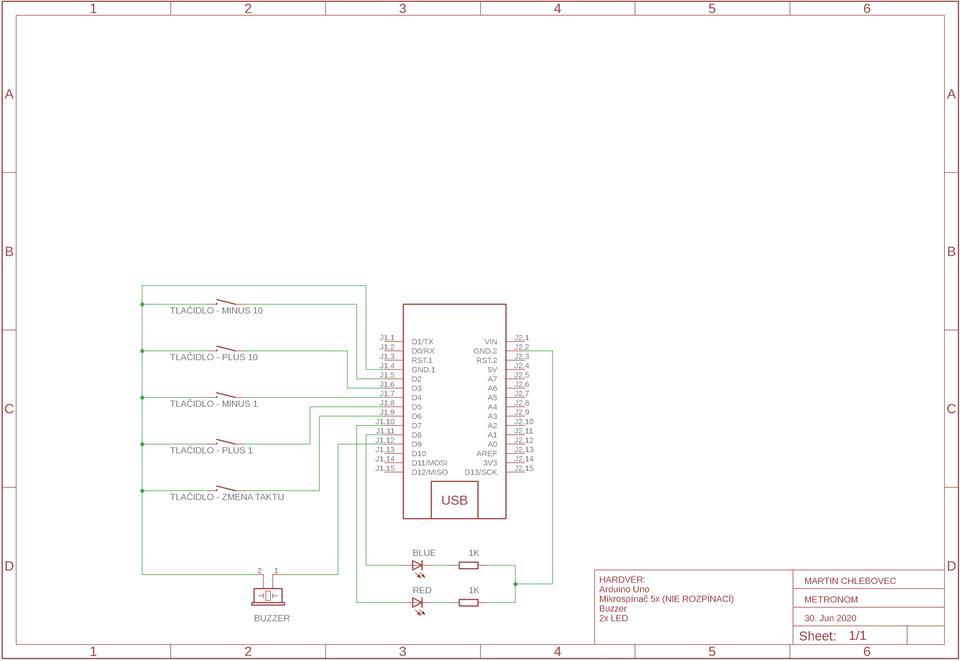Digitálny metronóm - Arduino