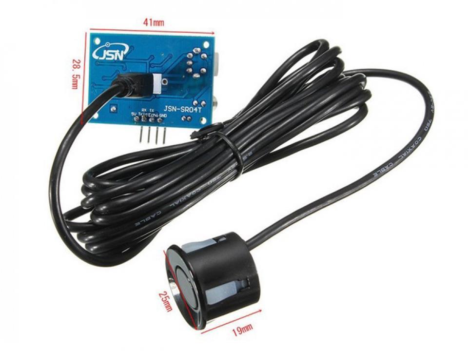 Ultrazvukový senzor HC-SR04 a JSN-SR04T - projekt Hladinomer