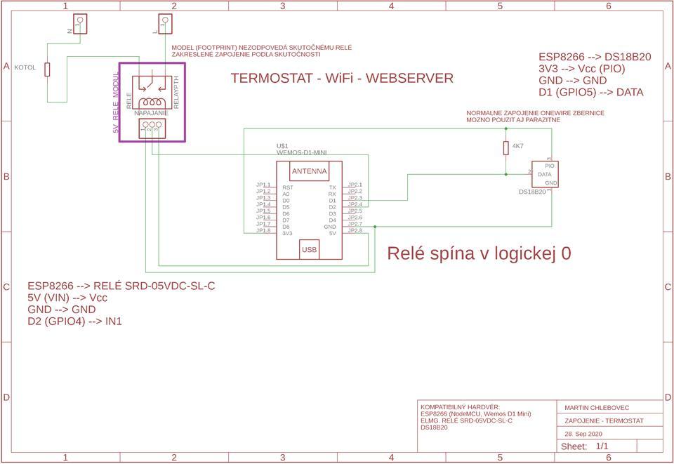WiFi Termostat - ESP8266 - WiFiManager - OTA