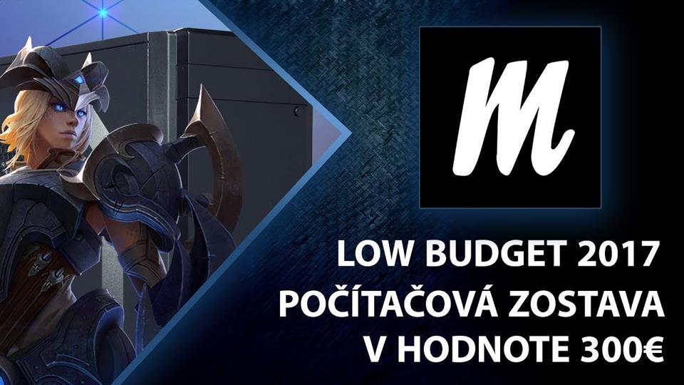 Počítačová zostava Low Budget 2017 za 300€