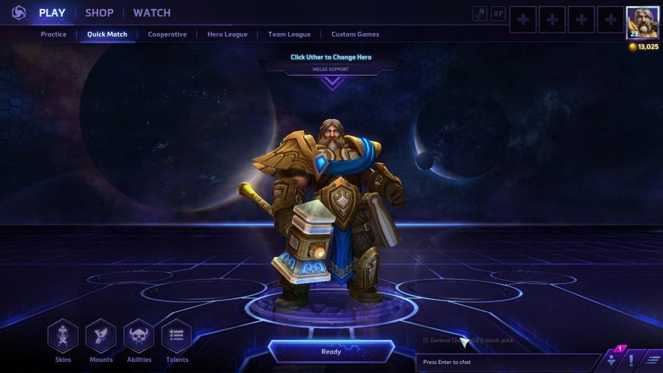 Heroes of the Storm - Uther (Combat Medic Build)