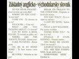 Anglicko - Východňarský slovník