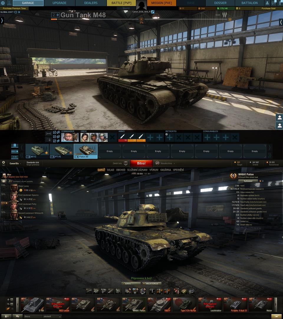 M48/M48A1 Patton World of Tanks vs. Armored Warfare