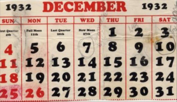 Kalendár na Bielej Stene